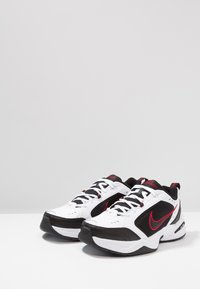 Nike Sportswear - AIR MONARCH IV - Sneakers - white/black/varsity red - 2