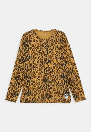 BASIC LEOPARD GRANDPA UNISEX - Long sleeved top - beige