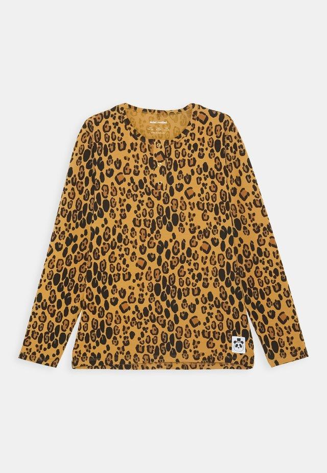 BASIC LEOPARD GRANDPA UNISEX - T-shirt à manches longues - beige