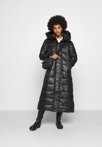 G-Star - EXTRA LONG HOODED PADDED PUFFER  - Winter coat - dk black - 1