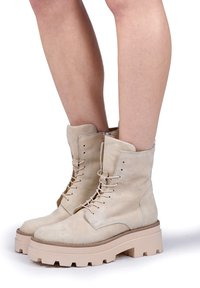 MJUS - Lace-up ankle boots - panna - 0