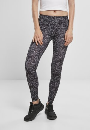 Leggings - Trousers - hibiscus black