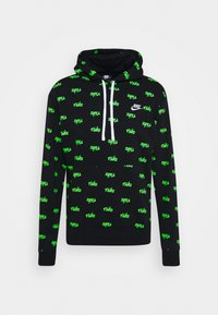 Nike Sportswear - CLUB HOODIE SCRIPT - Hoodie - black/mean green/white - 0