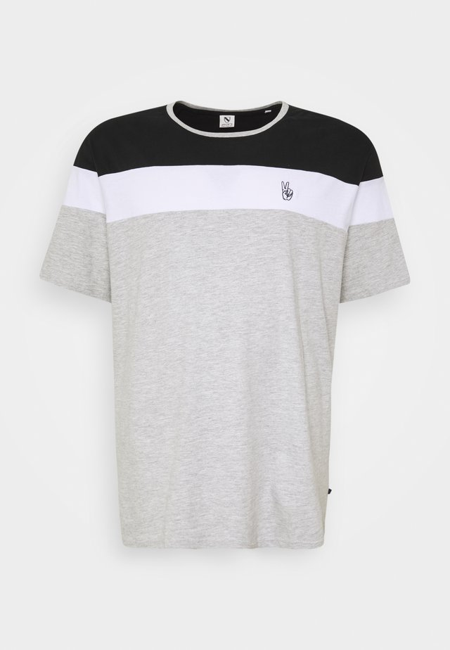 PANEL TEE - T-shirt med print - grey melange
