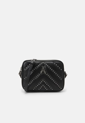 FLY QUILTED AND STUDS MINI BAG - Across body bag - nero