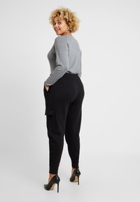 Missguided Plus - UTILITY POCKET HIGH WAISTED - Tracksuit bottoms - black - 3