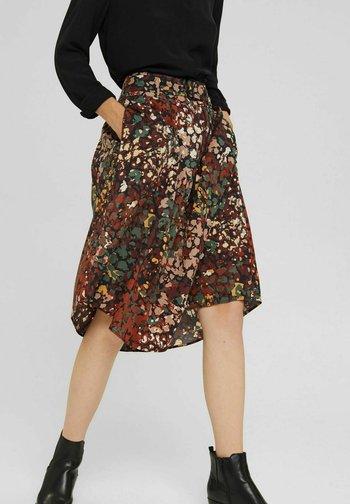 MIT BLUMEN PRINT - A-line skirt - multicoloured