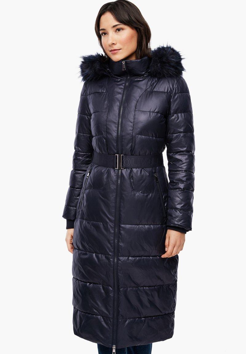 s.Oliver - MIT LOGO-GÜRTEL - Winter coat - navy