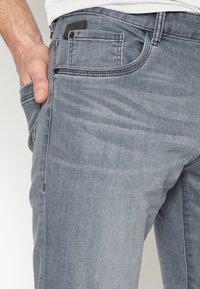 TOM TAILOR - JOSH - Straight leg jeans - grey denim - 3