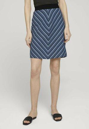 GESTREIFTER - Pencil skirt - blue structure design