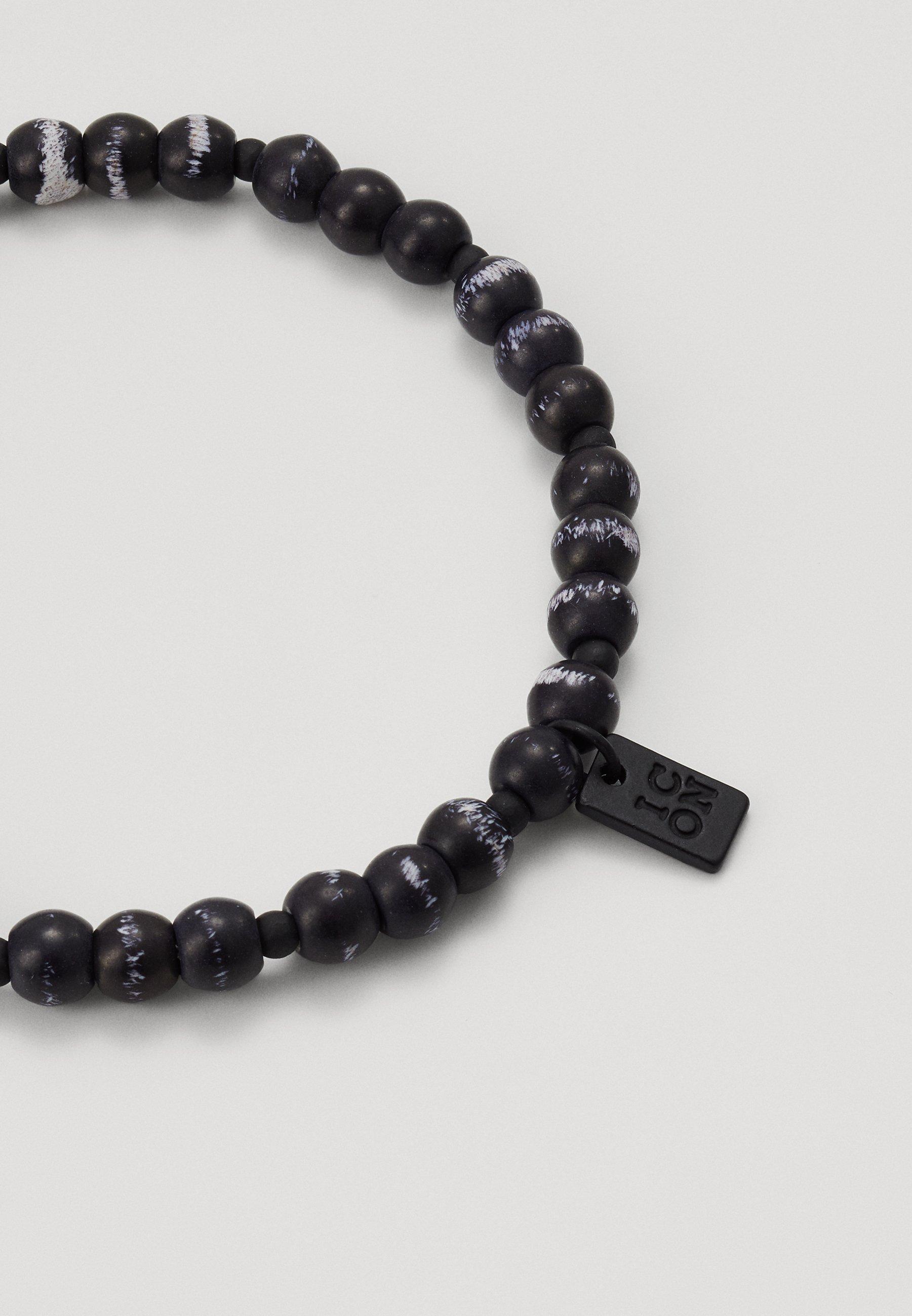 Icon Brand HERRING BEADED BRACELET - Armbånd - black/svart zYIO5LvJCFUaV0d