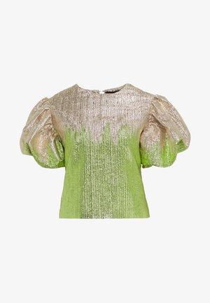 ADDISON BLOUSE - Bluser - green glitter