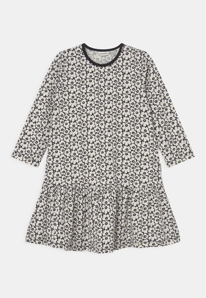 Marimekko - KULTARINTA PIKKUINEN UNIKKO - Jersey dress - black/off white