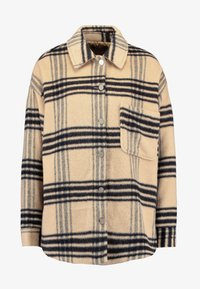 Missguided - PURPOSEFUL BRUSHED CHECK DOUBLE BREASTED COAT - Manteau court - sand - 4