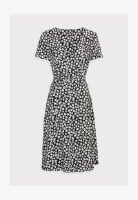 WRAP DRESS - Day dress - black/white