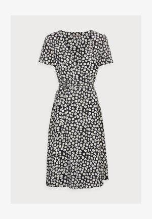 WRAP DRESS - Kjole - black/white