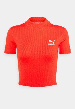 CLASSICS MOCK NECK - T-shirt basic - poppy red