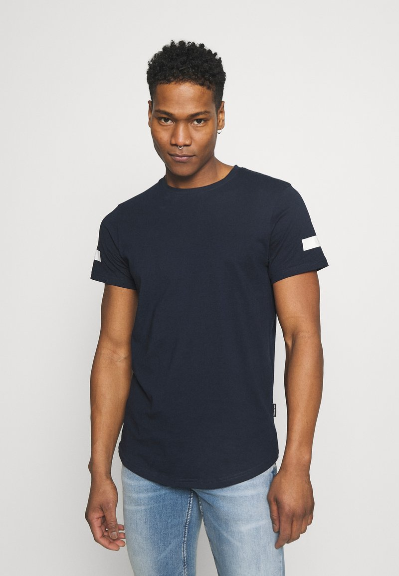 Redefined Rebel - ZION TEE - Print T-shirt - navy