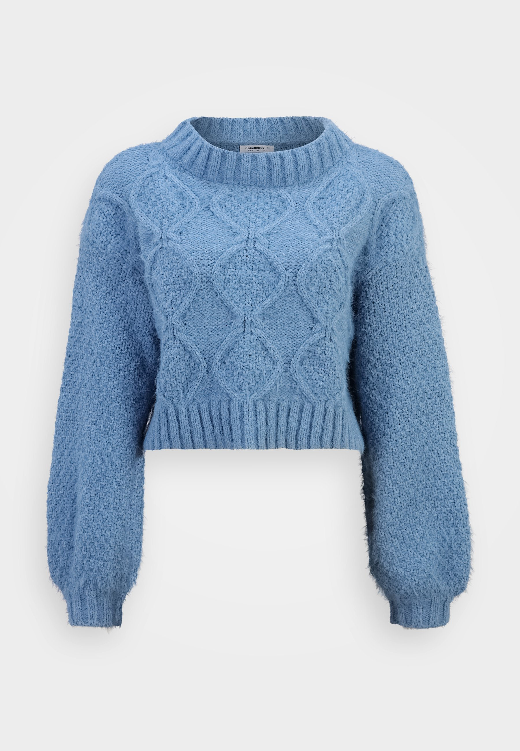 Femme KNITTED CROP JUMPER WITH LONG SLEEVES AND BOAT NECK - Pullover