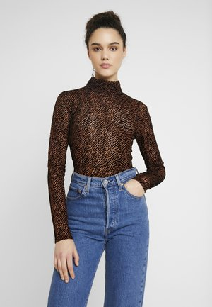 VMFIFI HIGH NECK - Blouse - black/brown