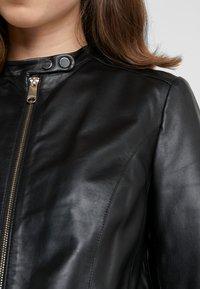 MAX&Co. - DENOTARE - Leather jacket - black - 6