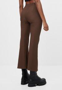 Bershka - Trousers - brown - 2