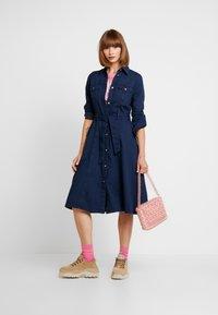 Monki - WAY DRESS - Jeanskjole / cowboykjoler - dark blue - 2