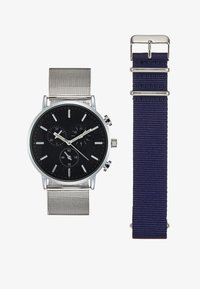 Pier One - Montre - silver-coloured/dark blue - 1