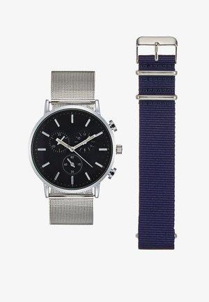 Watch - silver-coloured/dark blue