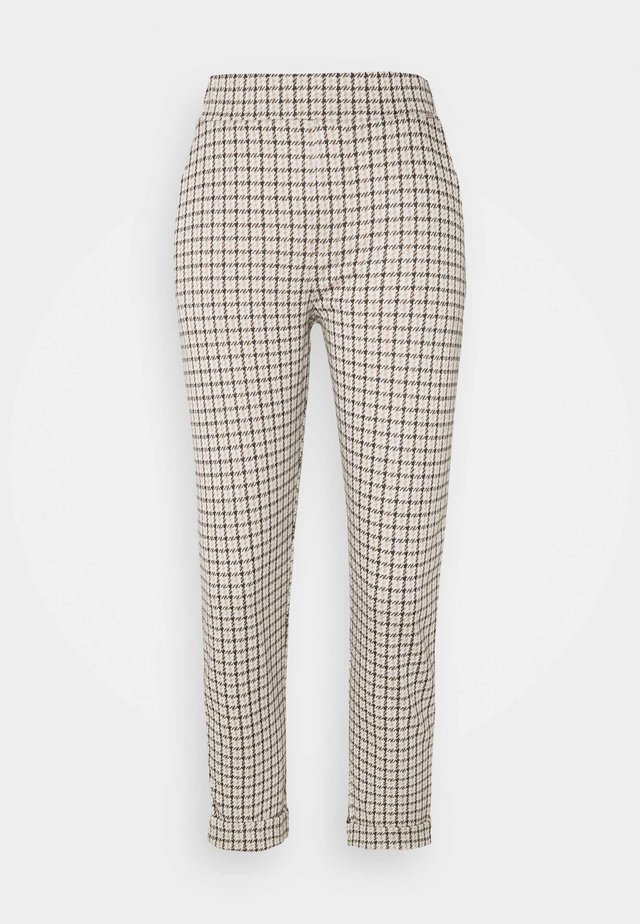 HESTER INTERLOCK HOUNDSTOOTH - Bukser - light beige