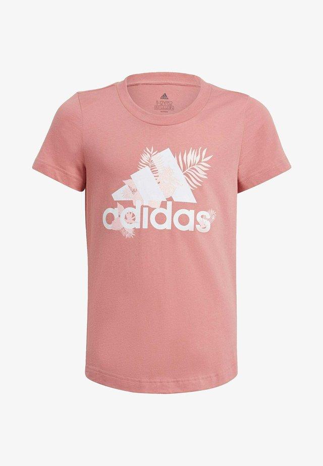TROPICAL SPORTS GRAPHIC T-SHIRT - T-Shirt print - pink