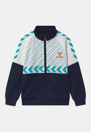 DENNIS ZIP UNISEX - Training jacket - dark blue/white