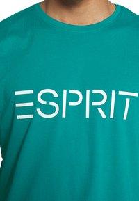 Esprit - LOGO - Print T-shirt - dark turquoise - 5