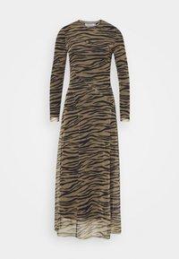 Calvin Klein Jeans - ZEBRA DRESS - Maxi dress - irish cream/black - 4