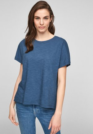 Print T-shirt - blue embroidery