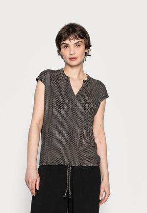SANDEO GEOMETRIC - T-shirt med print - black