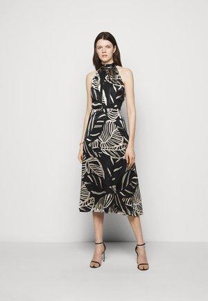 ADRIAN PALM BURNOUT DRESS - Shift dress - black/neutral