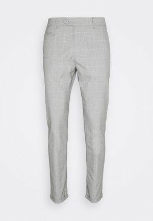 COMO CHECK SUIT PANTS - Trousers - grey melange/offwhite