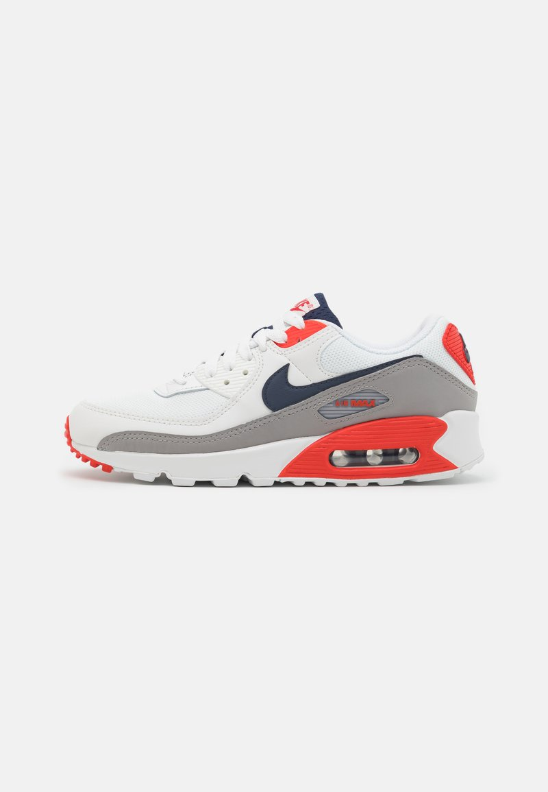 Nike Sportswear - AIR MAX 90 - Sneakersy niskie - summit white/thunder blue/cement grey/chile red/white