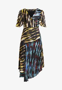 House of Holland - MIXED TIE DYE DRESS - Maxi dress - black and yellow multi - 4