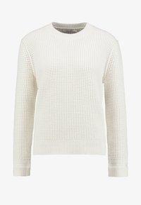 Calvin Klein - TEXTURE CREW NECK - Jumper - white - 4
