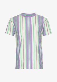 Bellfield - EMBROIDERY LOGO STRIPE TEE - Print T-shirt - lilac - 4