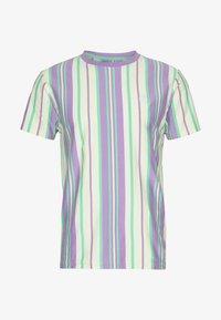 EMBROIDERY LOGO STRIPE TEE - Print T-shirt - lilac