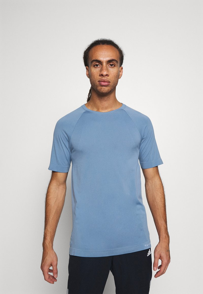 NU-IN - SHORT SLEEVE TRAINING  - Basic T-shirt - blue