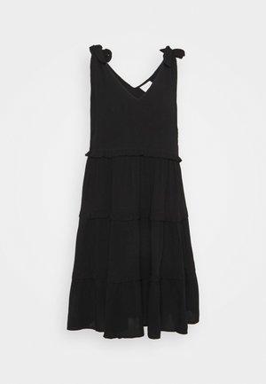 VIMESA TIE SHORT DRESS - Denní šaty - black