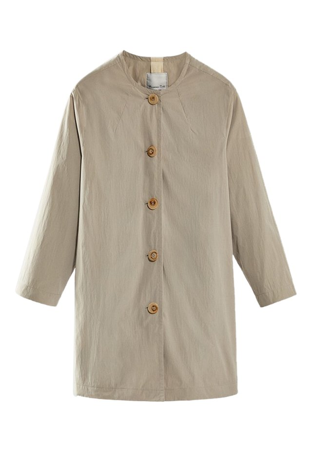 LONG PARKA WITH POCKETS 06708114 - Cappotto corto - beige