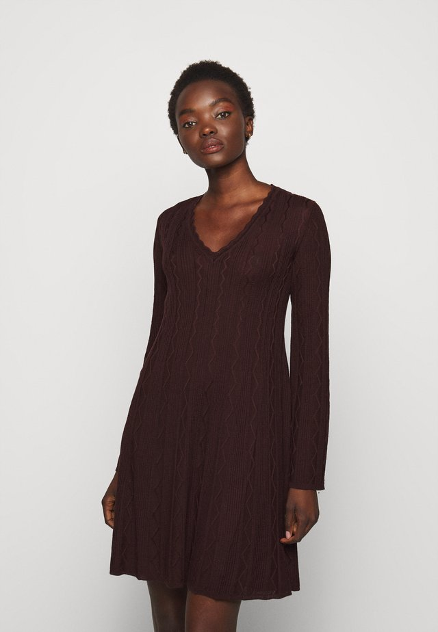 ABITO - Robe pull - bordeaux