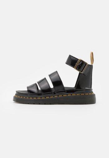 VEGAN CLARISSA  - Platform sandals - black oxford