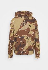 GARMENT WASH HOODIE UNISEX - Sweatshirt - beige