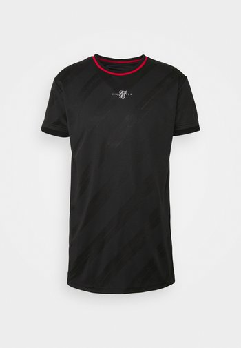 JACQUARD TEE - Basic T-shirt - black